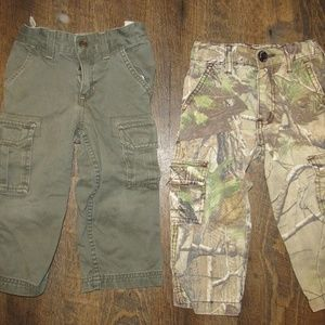 Camoflauge and green pants toddler boy size 2T